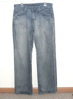 Mens 33x32 Helix Loose Straight Denim Jeans Mens Tag 32x34 Measures 33 x 32