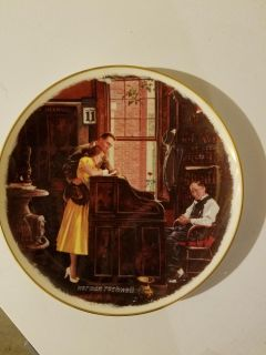 Norman Rockwell The Marriage License Plate