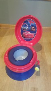 Potty chair, Flusher makes car sounds