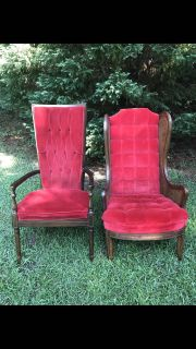 King and Queen red velvet Chairs