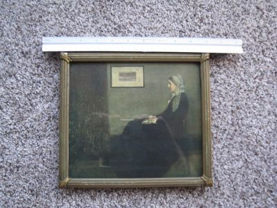 Vintage and Antique Whistler Mother Print from Marshall Field's & Company