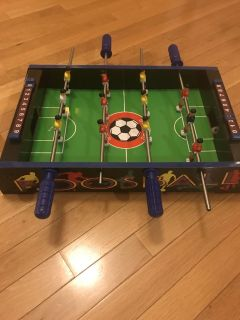 18x12 small foosball table with 2 soccer balls