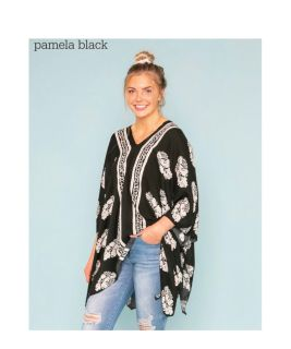 PPU-White House new floral summer poncho