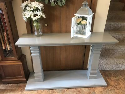 Grey Pedestal Console Table