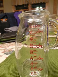 Glasco glass 4 cup pitcher
