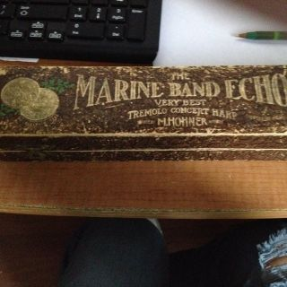 antique marine band echo tremolo concert harp HARMONICA