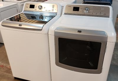 WASHER AND DRYER MAYTAG BRAVOS ELECTRIC