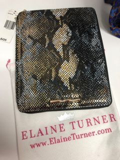 NIB ELAINE TURNER SNAKE METALLIC SKIN IPAD CASE