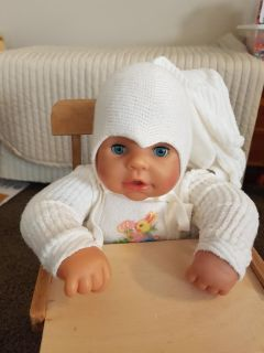 Zapf creations doll with highchair