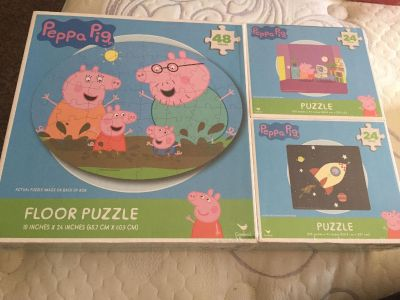 PeppaPig 3 pack new puzzle