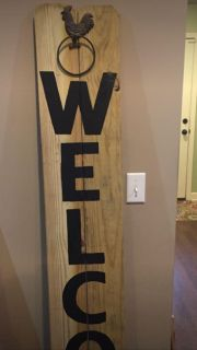 6 ft wooden porch sign