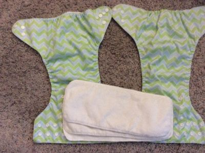 2 Ecoable Cloth Diapers and Inserts