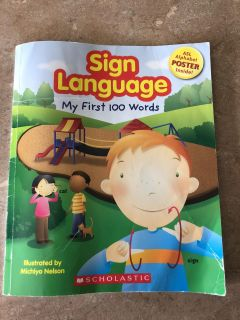 Sign language book- my first 100 words