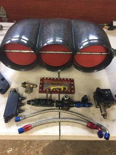 Complete 3 Blade 5 1/2 CARBON FIBER Bower Hat setup