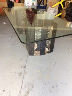 Granite and glass table vintage piece