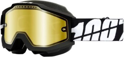 Find 100% Accuri Snow Goggles Black w/Mirror Gold Lens 50213-061-02 motorcycle in Lee's Summit, Missouri, United States, for US $64.95