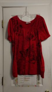 EUC, polyester top with butterflies, by Cato. Size 18W-20W. Asking $3.00