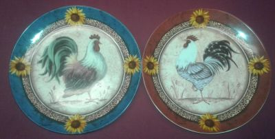 Pair Of Collectible Ceramic Roster Plates