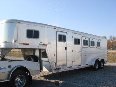2007 Exiss 4 Horse Slant All Aluminum Horse Trailer