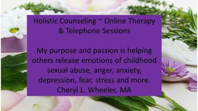 release emotions of childhood sexual abuse, anger, anxiety, depression, fear, stress....