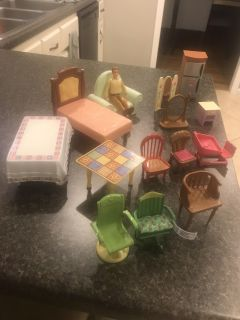 Dollhouse miscellaneous furniture lot $10. Cross posted