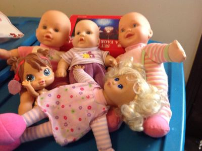 Baby dolls. Some need batteries