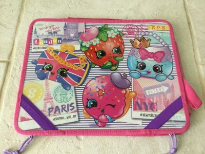 Shopkins Lap Desk with Dry Erase Board & Compartment for Storage ~ Great for Road Trips