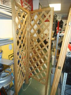 6' 2 section Wooden Room divider/ display