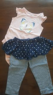 Carter's 18 month pants and onesie