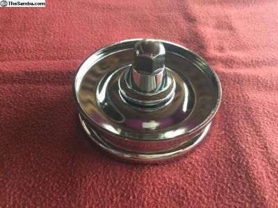 New Chrome Alternator Pulley w/nut & hub