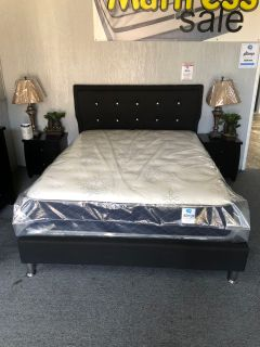 Black Diamond queen size bed frame on sale