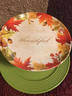 Pretty Thanksgiving Fall 2 Tier Serving Piece Swap Only smaller plate on top Larger plate on bottom Swap Only