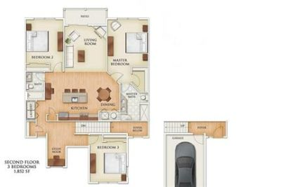 Spacious luxurious 3 Bedroom Apartment with Study and Attached Garage!