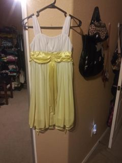 Super cute dress can be used for Belle costume for Halloween $6