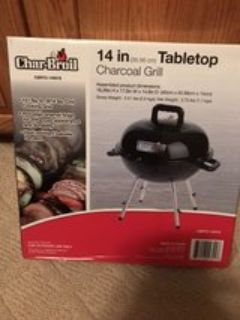Tabletop grill for tailgating/camping
