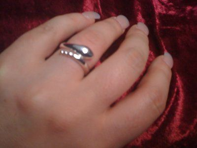 REDUCED AGAIN!!!Size 8 sterling silver 925 raddle snake ring