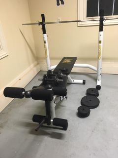 University Equipment 3750 Weight Bench Complete System!