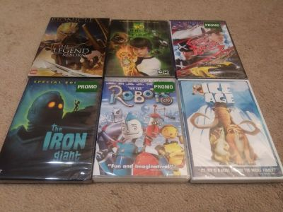 6 Kids Movies (Sealed DVDs)