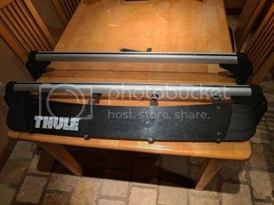 FS: Golf/GTI OEM Roof Rack with Thule Faring and Ski/Snowboard Attachment (North New Jersey)