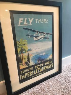 Framed Airplane Wall Art 27 x33