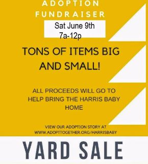 Adoption Fundraiser Yard Sale