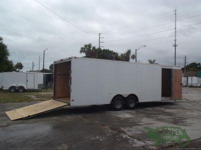 CAR HAULER! Tandem Axle 8.5x24ft Enclosed trailer with Ramp