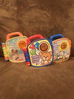 Set of 3 light up and talk toddler books