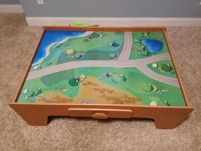 """Play table with storage drawer - measures 45"""" x 32"""""""