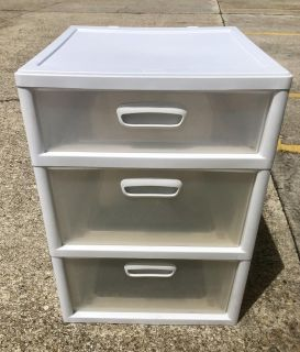 Large 3-drawer storage container. EUC