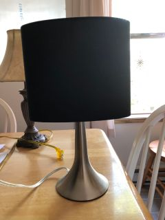 Black and sliver Lamp