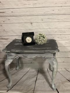Rustic side table $50