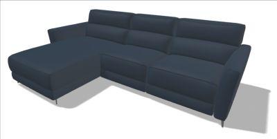 Brand New Natuzzi Italia Stan Leather Sofa