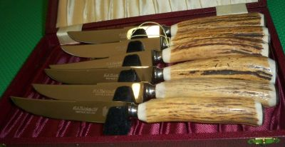 Kirk's Sheffield Indian Stag Cutlery