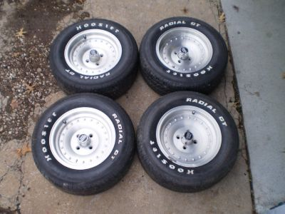 PORSCHE 924 THUNDERBIRD MUSTANG COUGAR WHEELS RIMS CENTERLINES 14X7 4X4.25 BOLT PATTERN NICE TREAD